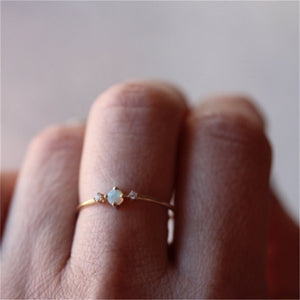 Little Rainbow Fire Opal Ring - Pwrfull