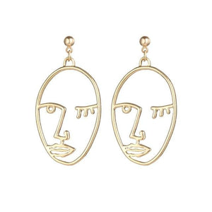 Abstract Portrait Earrings - Pwrfull