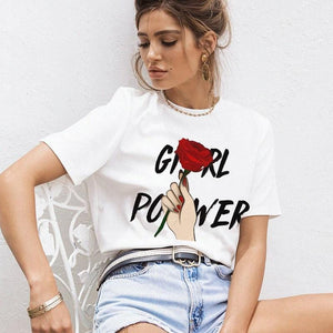 """Girl Power"" Tee - Pwrfull"