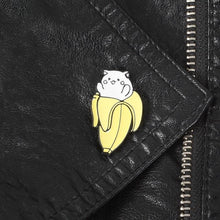 Load image into Gallery viewer, Banana Cat Enamel Pin