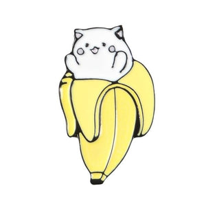 Banana Cat Enamel Pin