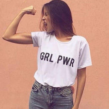 "Load image into Gallery viewer, ""GRL PWR"" Tee - Pwrfull"