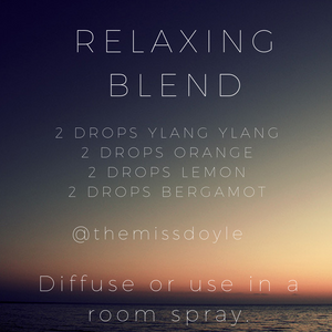 Daily essential oil blends