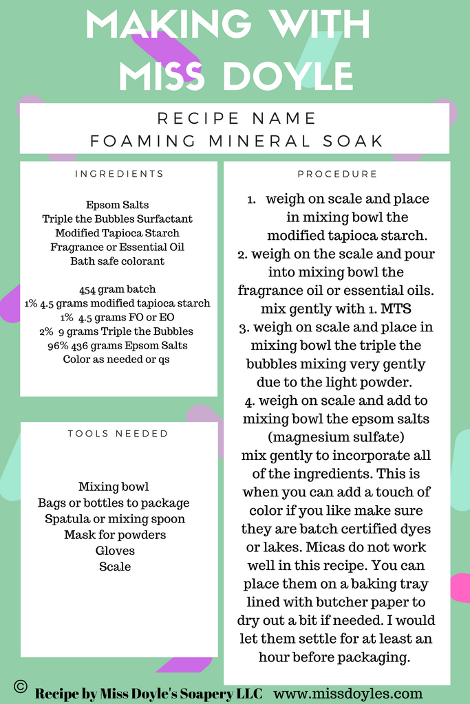 foaming mineral soak making with miss doyle