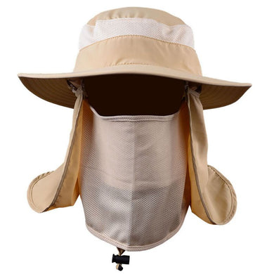 Unisex Adult Outdoor Detachable Sun Hats Neck Cover Ear Flap UV Sun Protection Bucket Hat DDD