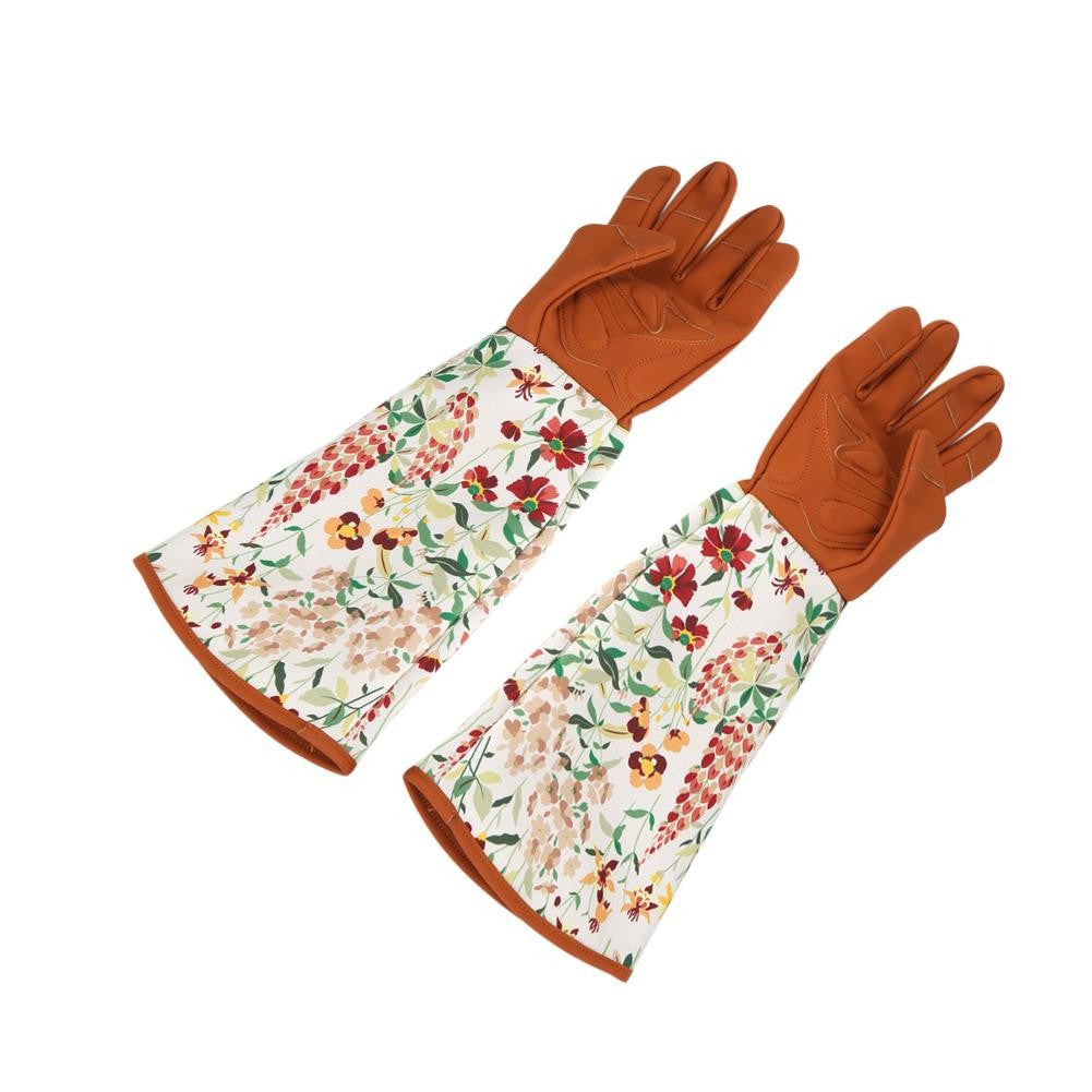 1 Pair of Long Sleeve Gardening Gloves Hands Protector for Garden Yard Pruning Trimming Use
