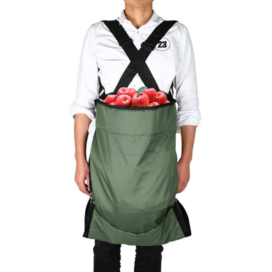Fruit Picking Bags Harvest Garden Apron Large Volume Pouch for Gardener Comfortbble Adjustable Shoulder Apron