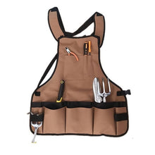 Load image into Gallery viewer, Vintage Canvas Multiple Pockets Garden Apron Garden Work Clothes Garden Tool Set Storage Container Apron