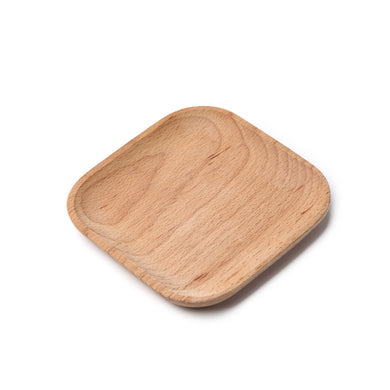 Beech Serving Plates Heavy Duty Dinnerware Disposable Home Compostable Party Plates - Square