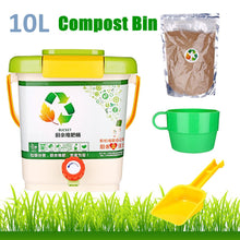 Load image into Gallery viewer, 10L Kitchen Compost Bin Recycle Composter Aerated Compost Bin PP Organic Homemade Trash Can Bucket Kitchen Food Waste Bins