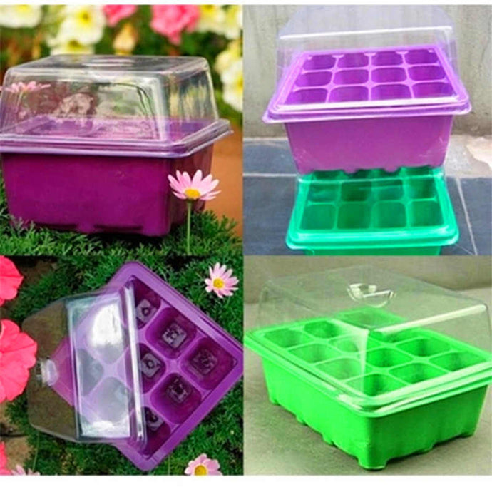1PCS double-layer seedling box planting special seedling tray 9-hole household bonsai plant planting germination