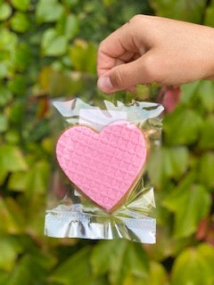 Pink Heart Gingerbread Cookie