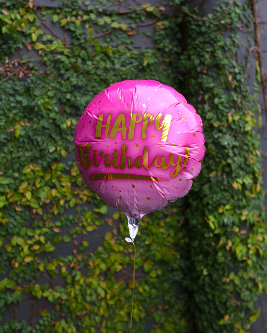 Happy Birthday Helium Balloon - Pink