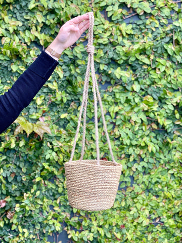 Seagrass Hanging Plant Basket