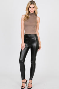 High waist faux leggings