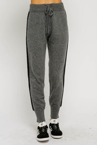 Side stiped joggers