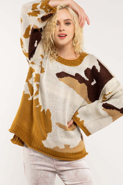 Abstract Camo Sweater