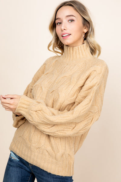 Cable knit pattern Sweater