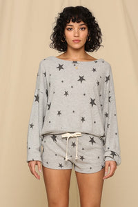 Brushed Hacci Star Sweatshirt