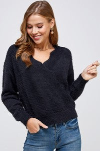 Scallop Edge Sweater