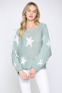 Blue Haze Star sweater