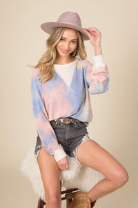 SOft French tie dye top