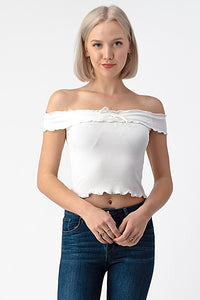 Lettuce Merrow Off Shoulder Top