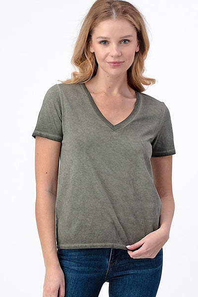 DIRTY LAUNDRY V-NECK SOFT COTTON Top