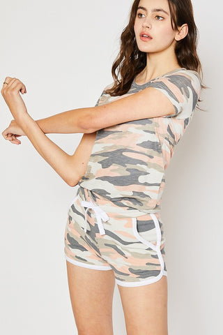 Camo Tee and short Set