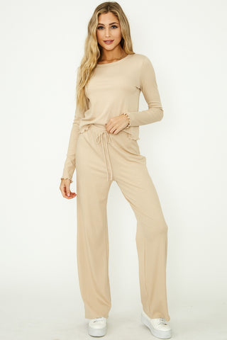 L/S Ribbed Pants Set