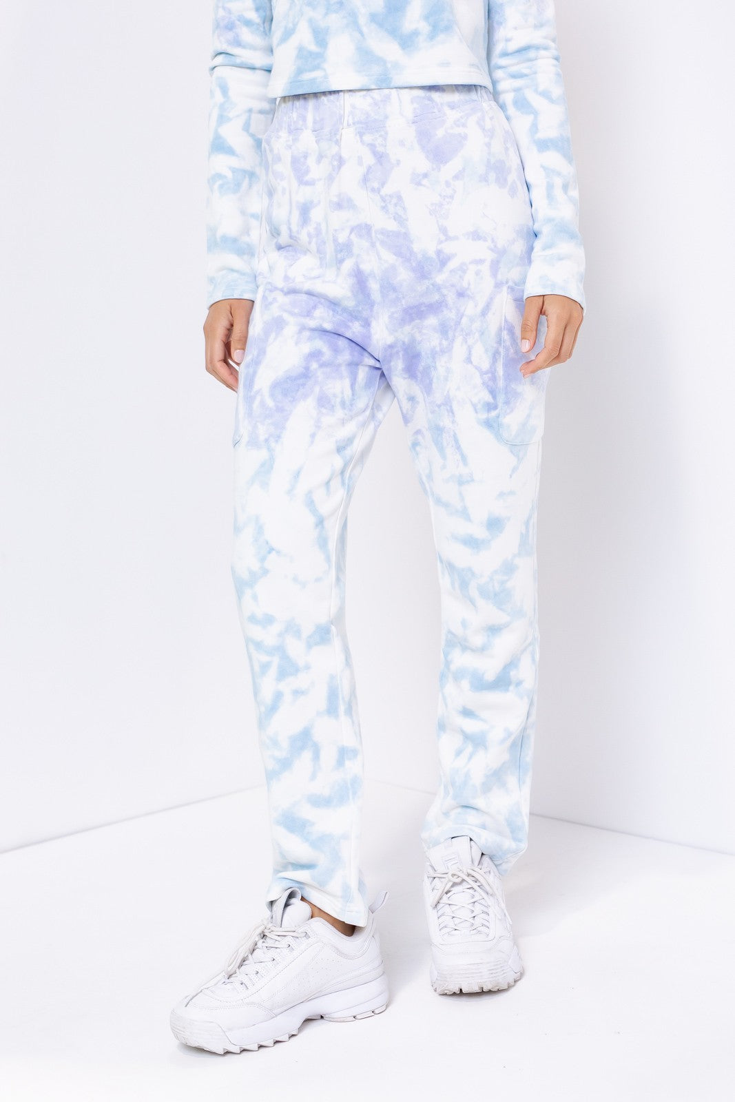 Tie Dye Cargo Sweat Pants