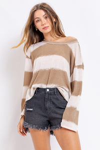 Slouchy Shoulder Bell Sleeve Top