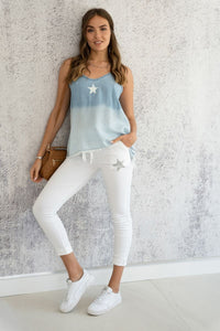Dip Dye Chambray Top