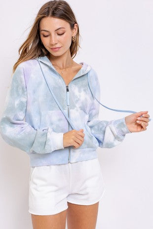 Zip up tye dye hoodies
