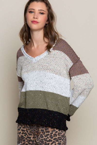 Two Tone Multi Sweater