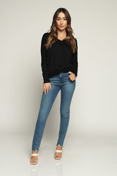 V Neck Hacci Top