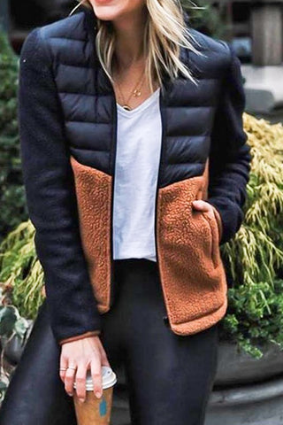 Faux Fur Half Puffer Jacket