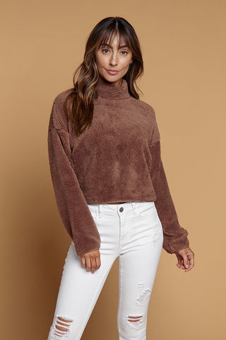 Mock neck Serpa Fleece Top