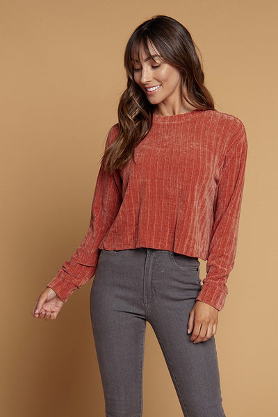 Semi Cropped Chenille top