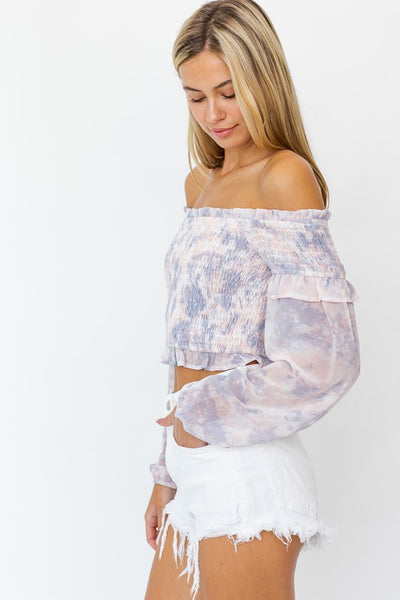 OTS Balloon Sleeve Smock Top