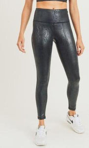 Glossy Snake High waist Leggings