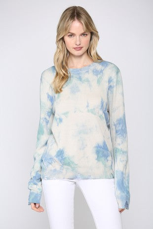 Tie Dye Printed Sweater