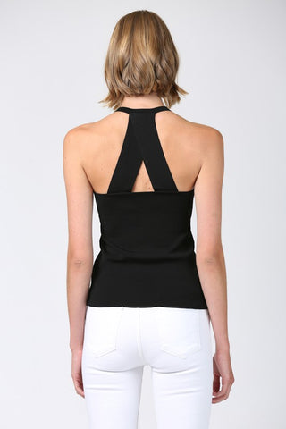 Racer Back Knit Top