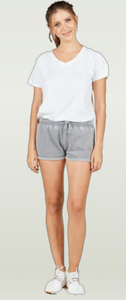 Rolled Cuff Burnout Shorts