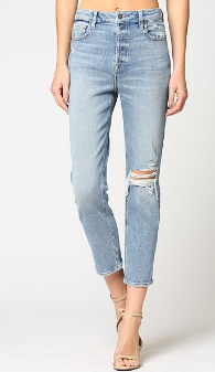 Zoey Hi Rise Mom Jeans