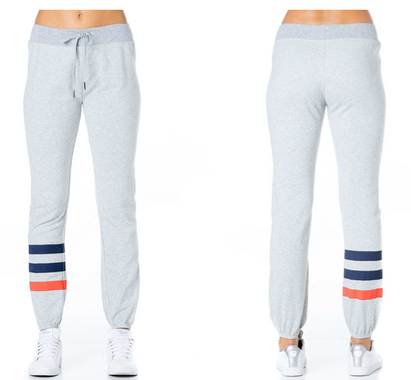 Ankle Stripe Knit Joggers