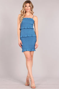 Body dress with ruffle bottom