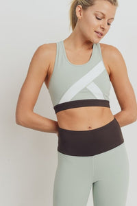 Colorblock sports bra