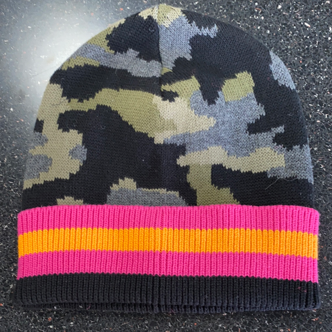 Beanie Hat Stripe Alps