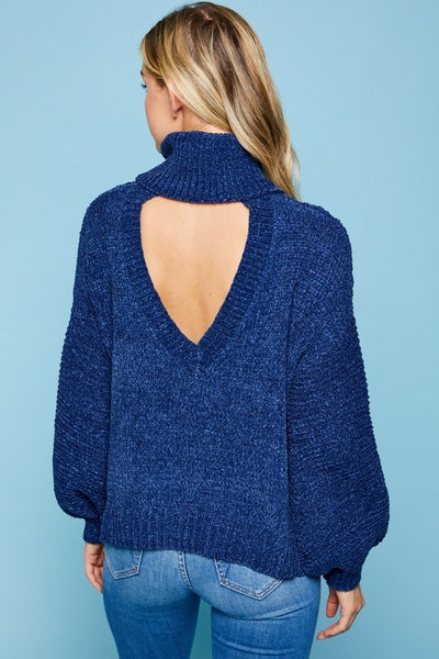 Chenille Open Heart back